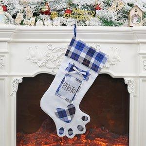 2020 Cross-Border New Creative Dog Paw Árbol de Navidad Colgante Decoraciones de Navidad Socks de Navidad Bolsa de regalo 01
