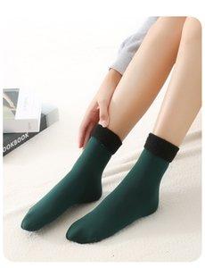 Winter erwachsene warme mittlere Röhre Schneeocken, Damen plus samt dicke Socken, Winterbodensocken, Frauenmode, um warm zu halten
