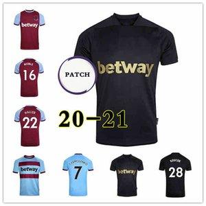20 21 WEST HAM لكرة القدم الفانيلة 2020 2021 المتحدة SNODGRASS FORNALS BOWEN كرة القدم قميص ANTONIO HALLER NOBLE الرجال + الاطفال كيت الأسود الثالث 125th