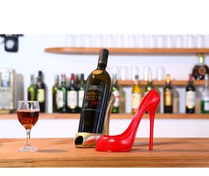 Creative high heels wine rack decoration European style home decoration wine cabinet jewelry wine rack resin