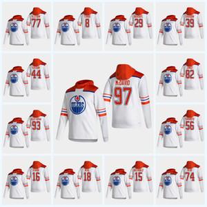 Connor McDavid Edmonton oilers 2021 Reverse Retro Hoodie Colby Cave Leon Draisaitl Ryan Nugent-Hopkins Gretzky 간호사 Kassian Barrie Jersey