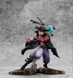 34cm One Piece Anime Figure Dracule Mihawk Figure Santoryu Ver. PVC Action Figure Toys Hawk-Eyes MAX Collectible Model Doll Gift Z1120 Z1120