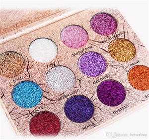 2021 New Hot Makeup MAANGE 12colors Diamond Pressed Golden Shiny Eyeshadow Waterproof Shimmer Glitter Matte Eye Shadow Palette Best Price