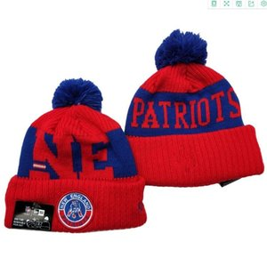 2020 Fashion New England Winter Cuffed Knit Hats Cheap Red Color NE Men Women Unisex Adults Knitted Skullies Hat Beanies Casual Warm Caps
