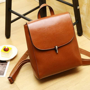 Women Backpack British Style Ladies Multifunctional Crossbody Shoulder Bag Leisure Travel Wild Leather Backpack Gift 0786
