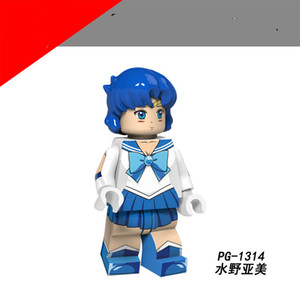 Vendita calda Original Anime Series Beautiful Girls Assemblato minifigure per bambini Adult Action Figure Collection Regalo