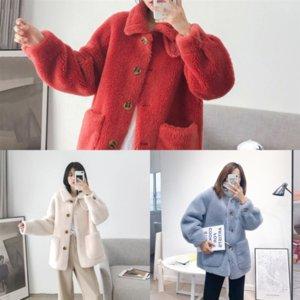 QES Women Denim Jackets High Sleeve women's jacket Lambswool Vintage Slim Coat Jean Short Casual Puff Street Cropped Ripped