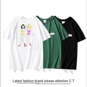 ummer paris mens luxury clothing hot drill t-shirt diagonal letter print t shirt Fashion r tshirts Casu;46