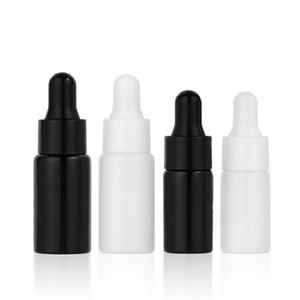 3ml 5 ml Mini Glas Ätherisches Öl Parfüm Flaschen Flüssig Reagenz Pipette Eye Dropper Aromatherapie Flaschen Schwarz / Weiß DHA3104