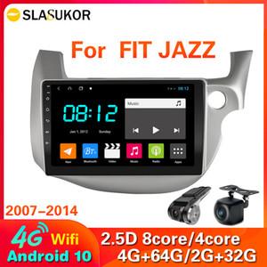 4G Android 10 voitures radio pour Honda Fit Jazz 2007-2013 Multimédia Video Player Connexion Split Screen Head Unité N ° 2 DIN