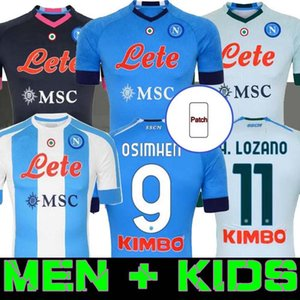 2020 Napoli Jersey Soccer Naples Osimhen Insigne Football H.Lozano Mertens Koulibaly Commémorez Diego Maradona Camiseta de Hommes + Kids 20 21