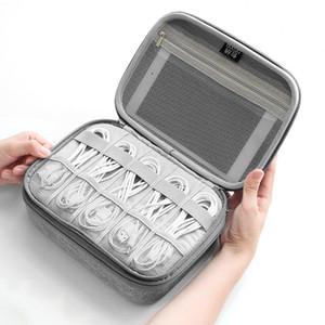 Tuuth Travel Kabelbeutel EVA Oxford Stoff Wasserdichte Organizer Bag USB-Ladegerät Kopfhörer Draht Festplatte Für die Power Bank LJ201119