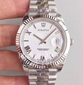 Top 41mm Mens Black Blue Gray White Roman Dial Watch Men Automatic Cal.3235 Jubilee Bracelet Steel Date 126334 Eta Swiss Mechanical Watches