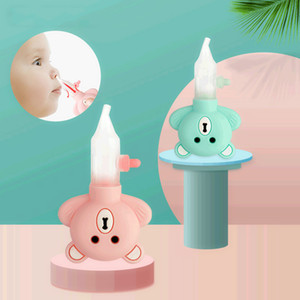 Baby Nasal Aspirator Inhaler Pump Type Anti-backflow Cartoon Bear Equipment Safe Hygienic Nose Aspirator Baby Care