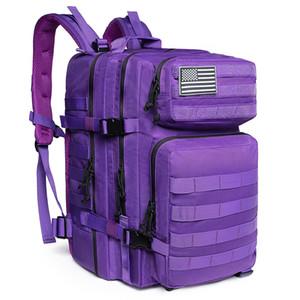 50L Homem / Mulheres Caminhadas Trekking Saco Militar Mochila Tática Exército Impermeável Molle Bug Out Bag Outdoor Viagem Camping Backpack Q1118