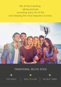 3 in 1 Wireless Bluetooth Selfie Stick for iphone Android Huawei Foldable Handheld Monopod Shutter Remote Extendable Mini Tripod
