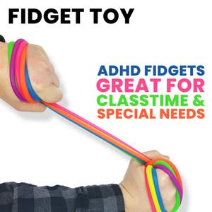 5pcs enfants décompression adulte decompression jouet nouilles stretch string caoutchouc TPR cordon blagues fidget antiésime anti-stress
