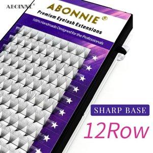 ABONNIE أحدث 10D أكثر وضوح مبيعا حجم مراوح 0.07 مم C D Curl Russion Sharpe Makeup Premade Keelashes