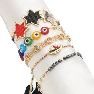 Go2boho 2021 Braccialetto Eye Evocativo Femme Pulsera Trendy Star Gioielli Naturale Shell Shell Gioielli Miyuki Bracciali perline per ragazza F1211