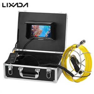 Fish Finder Lixada 30M Drain Pipe Sewer Inspection Camera IP68 Waterproof Industrial Endoscope Borescope System Snake