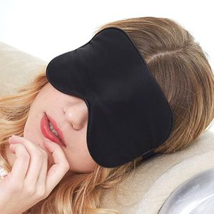 Natural Silk Sleep Mask Soft Smooth Eye Cover Sleeping Mask Night Eyepatch slaapmasker Eyemask For travel Rest eye patch Black