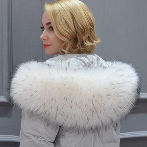 MH Llegada de rescatación Falso mapache cálido cuello buenos accesorios regalo de invierno fox fur New chal bufanda