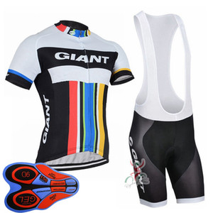2019 men Quick-Dry Team GIANT Cycling Jersey Set MTB Bicycle Clothing Breathable Mountain Bike Clothes Sports Uniform Y103009