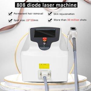 Equipo de belleza de depilación láser de diodo profesional 808nm DIODE LASER Eliminación de cabello permanente con un asa 800W Más de 30 millones de vacunas