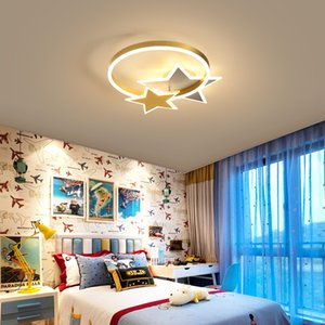 Light  golden five-pointed star bedroom ceiling lamp creative personality simple modern child study room children's room light RW490