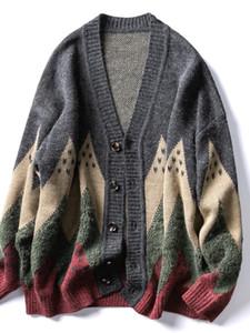 Invierno Moda Hombres Suéter Blusa Envío Gratis Cardigan Harajuku Suéter de punto Oversized Séter Masculino Hombres Ropa EA60 MI