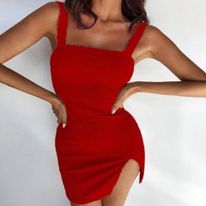 Cysincos الصيف اللباس 2021 الأشرطة مثير bodycon ruched اللباس المرأة حزب ليلة نادي المرأة الصلبة vestidos الأزياء الملابس 1