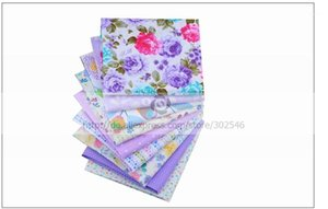 Shuanshuo Purple Bundle Patchwork Cotton Fabric Fat Patchwork Sewing Fabrics Doll clothing Tilda Quilt Tissue 9 PCS LOTS 40*50CM1