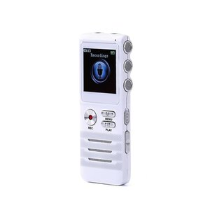 White Digital Audio Voice Recorder Flash Drive up to 8GB Voice Recorder USB LCD Interview With WAV MP3 Plays
