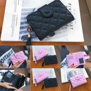 4vS Wallet- ID Holders LadiesSingle Zipper Coin sile coin bag purse wallet Leather Wallet Slim Purse Bag Long Pocket Wallets