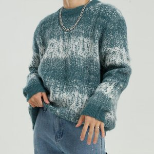 Männer Vintage Beiläufige Lose Verdicken Pullover Pullover Männliche Frauen Paar Japan Korea Streetwear Hip Hop Strickwaren Pullover