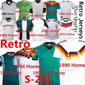 Classic Vintage Retro Alemania 2xl Soccer Jersey 1980 1988 1990 92 94 96 98 2004 06 2014 Klinsmann Matthaus Fooball Camisa uniforme