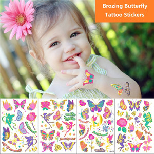 Brozing Butterfly Temporary Tattoo Stickers Waterproof Body Art kids Boy and girl Tattoo Stickers Health Beauty Product BK508