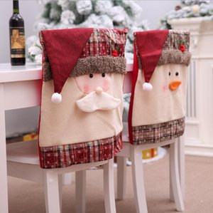 Merry Christmas Car Chair Cover Decor Nonwoven Santa Hat Chair Cover Xmas Dinner Table Decor Happy New Year FWC2778