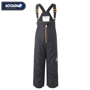 Moomin Winter zipper pants New Polyester Solid Boys Straight Zipper Fly Woven Winter pants waterproof overalls for kids 201128