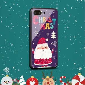 Suitable for 12 pro max 11 xsmax Christmas glass shell 7plus IPX xr foreign cartoon mobile phone shell smartwatch