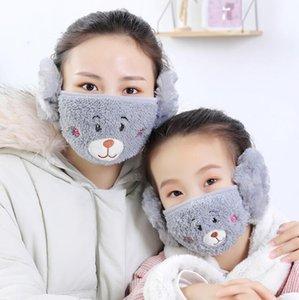 Máscara Máscaras Adulto unisex Boca Muffle Moda Earmuffs contra pó Máscara Facial Inverno Outdoor Máscaras quentes Windproof meia máscara HWB3104