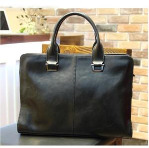 New style leather handbag men's horizontal Korean shoulder messenger bag business bag leather briefcase travel bag 228