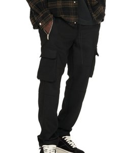 Cargo pants for mens of trendy wild style with straps cotton on multi-pocket and elastic waist let people com