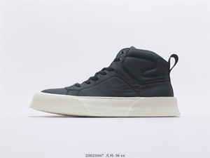 new men's and women's B33 high-top sneakers, leather casual skateboarding shoes, showing modern and elegant style