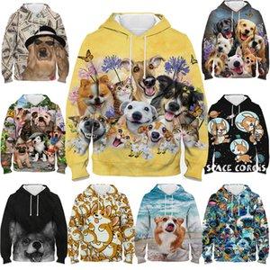 Chien animal mignon Corgi Golden Retriever Carlin Sweat-shirt pour les filles Boy 3D Print Enfants Automne Hiver Pull à capuche Teens Streetwear