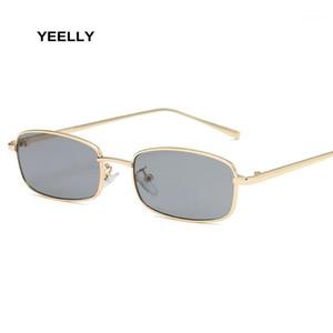Óculos de sol Unisex pequeno quadro retângulo moda tendência marinha filme vidros rua beat shopping espelho bar bar 75252 02481
