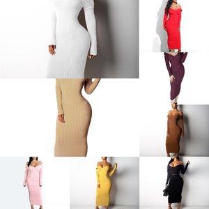 P3A0 Slim Women Dress Fashion Desinger Abrigo Contraste Color Falda Chaqueta Otoño Invierno Manga Larga Top Ladies Plus Tamaño Ropa