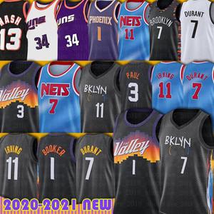 Hombres Devin 1 Booker Kevin 7 Durant Jersey Basketball Chris 3 Paul Charles 34 Barkley Kyrie Jerseys Irving Steve Deandre Nash 2021 New Temporada
