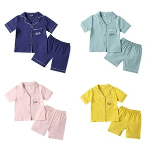 SAILEROAD 2020 Children Pajamas For Girls Cotton Short Pyjamas Kids Pijama Infantil Boys Sleepwear Child Home Wear Clothes Suits Q1203