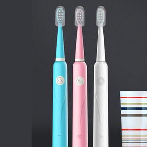 Cadeau portable Brosse à dents électrique USB Chargement de la batterie Adulte Brosse à dents Adulte Brosses Soft Sonic Sonic Ultrasonic Dents Brosse à dents DHF3451